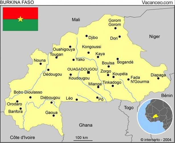 Association Lekma - carte du Burkina
